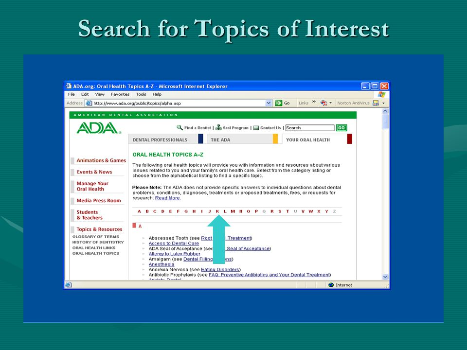 Search for Topics of Interest