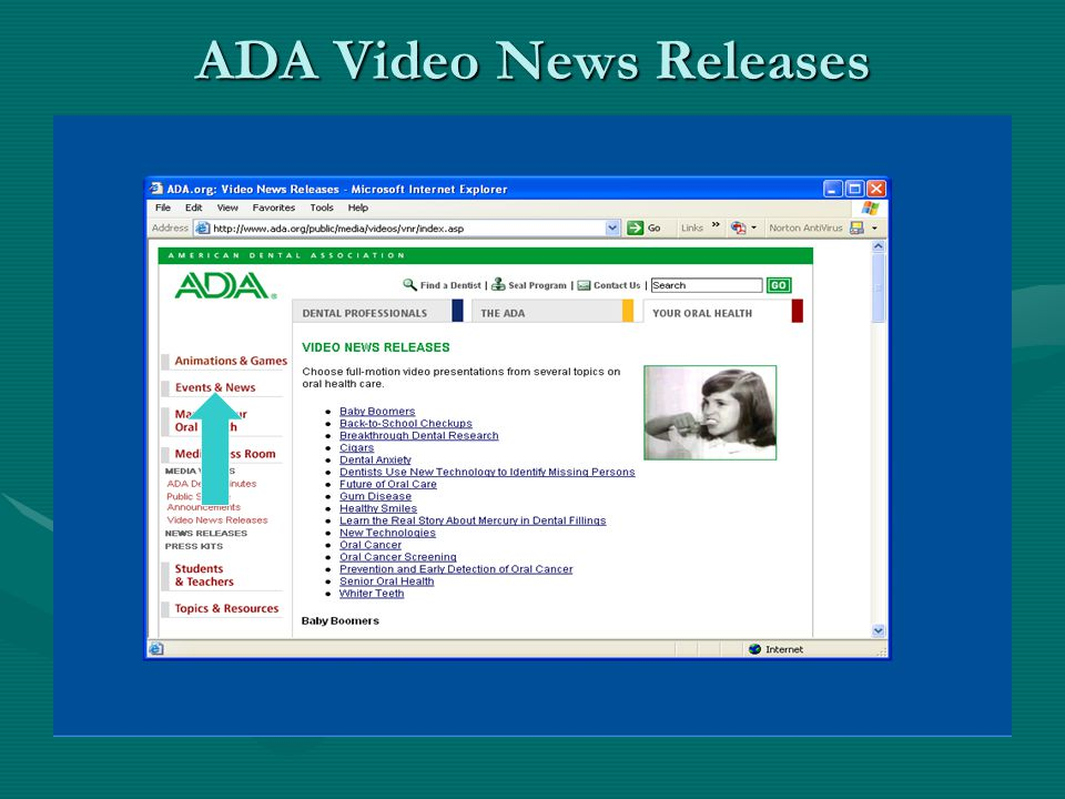 ADA Video News Releases