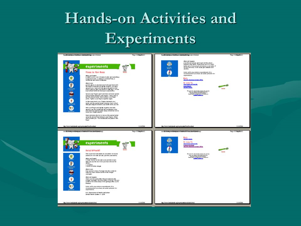 Hands-on Activities and Experiments
