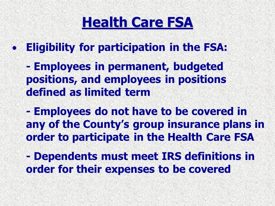 Health Care FSA Example of Estimated Tax Savings