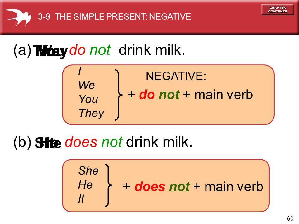 60 (a) do not drink milk.