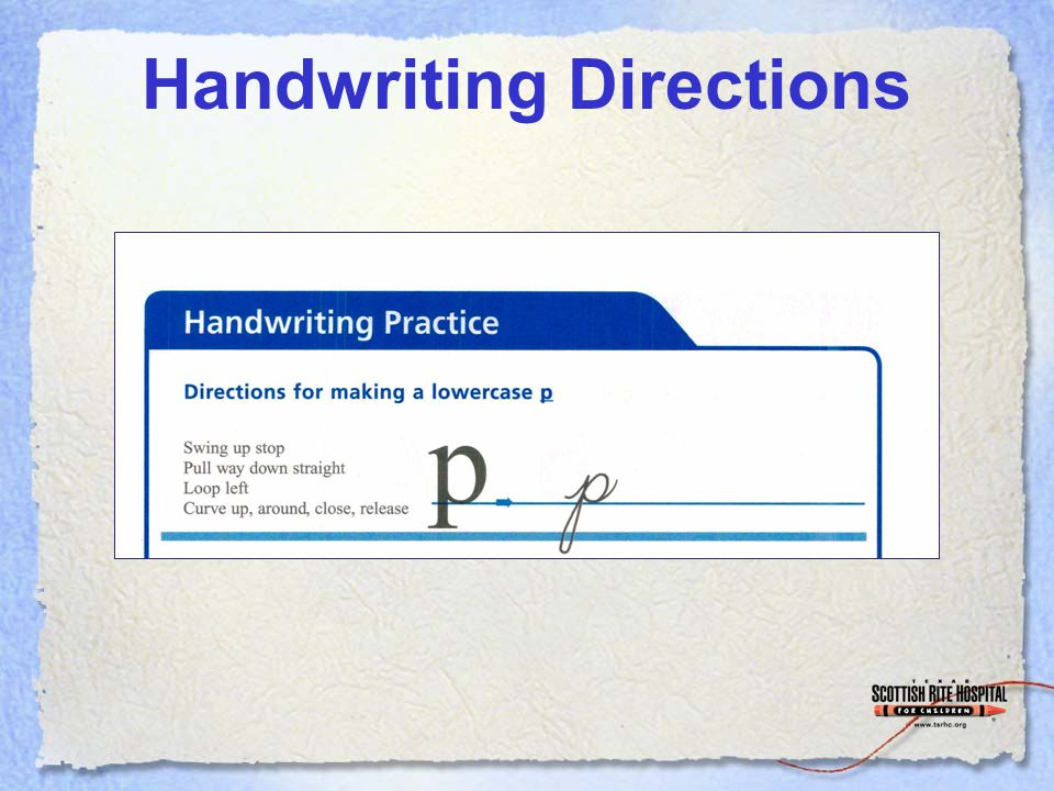 Handwriting Directions
