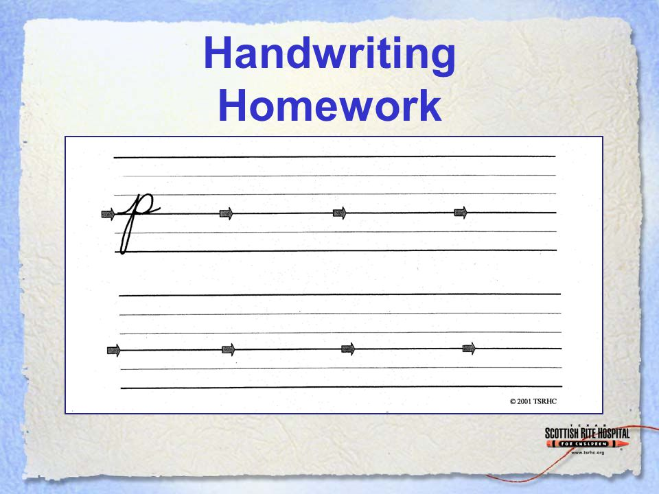 Handwriting Homework