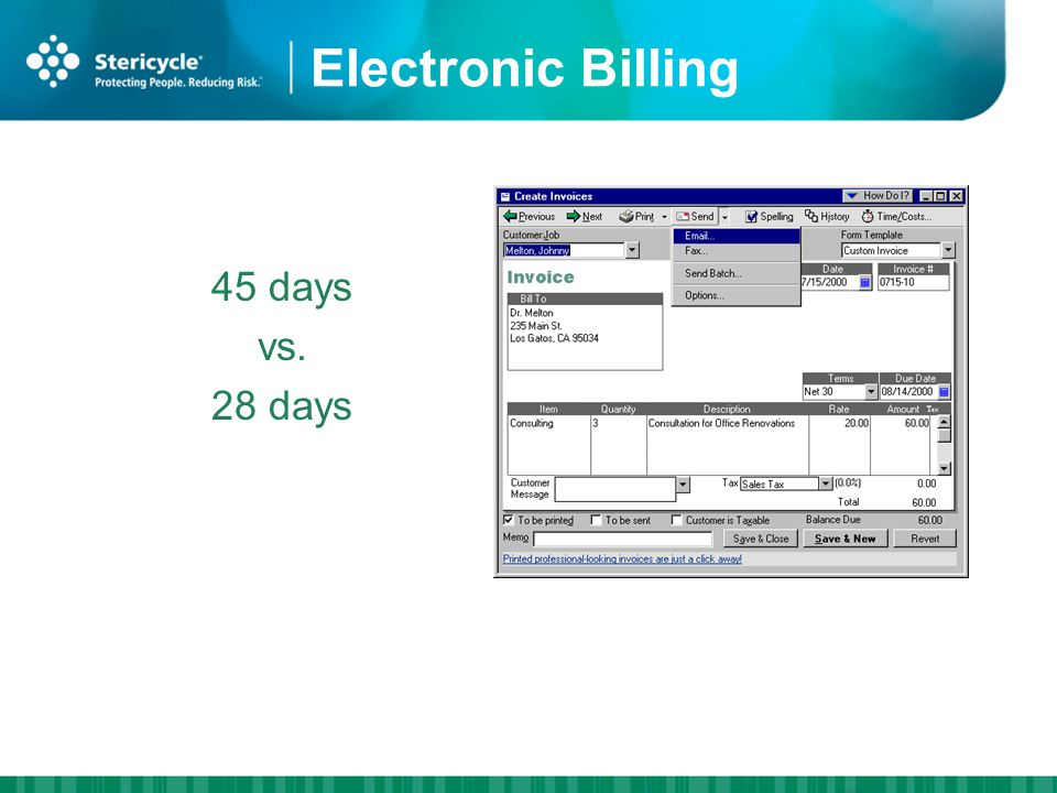 Electronic Billing 45 days vs. 28 days HIPAA