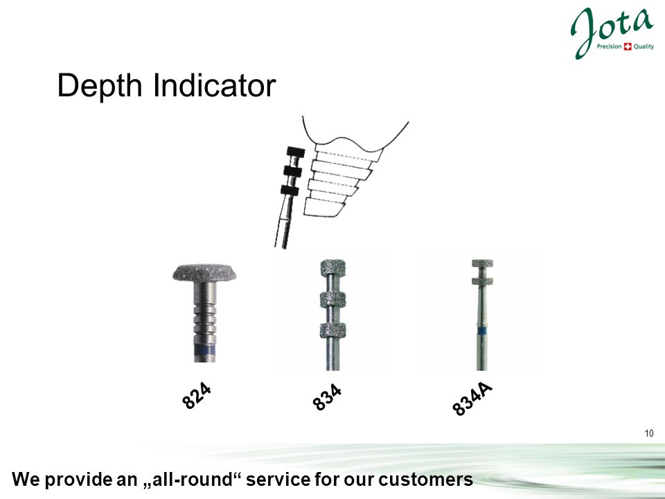 10 We provide an all-round service for our customers 824 834A Depth Indicator 834