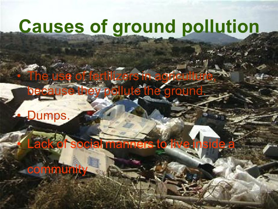 Causes of air pollution Burning industrial wastes Using sprays ( CFCs and aerosols) and air conditioning Sending industrial gases to the atmosphere Using the car as the main means of transportation To smoke