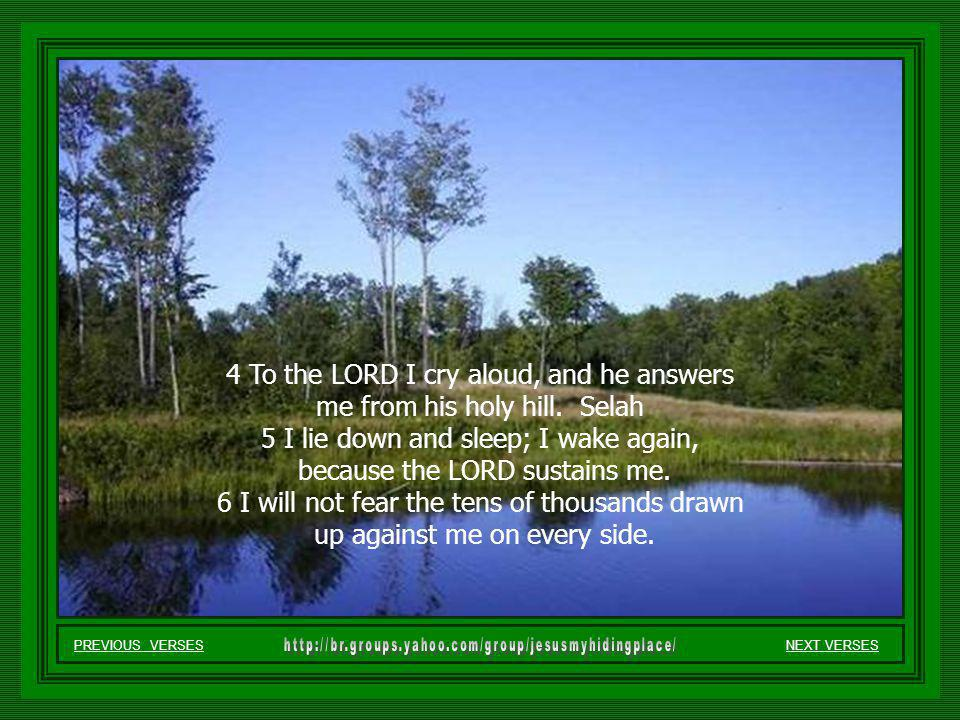 NEXT VERSES 1 O LORD, how many are my foes. How many rise up against me.