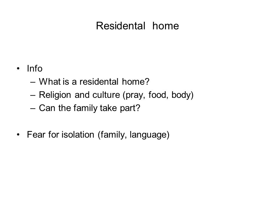 Residental home Info –What is a residental home.