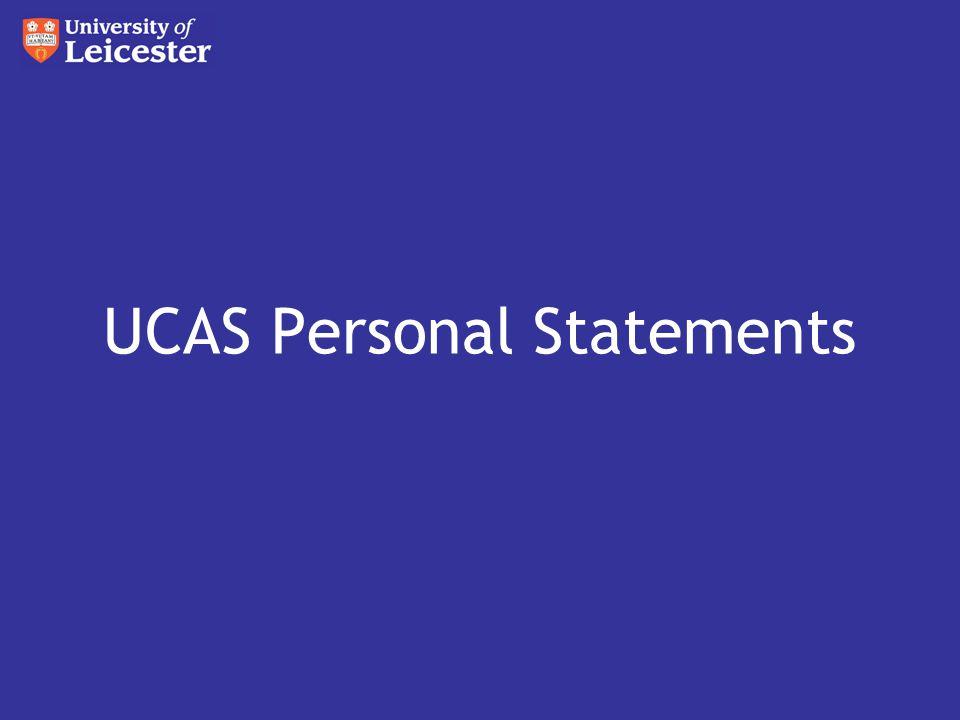 UCAS Personal Statements