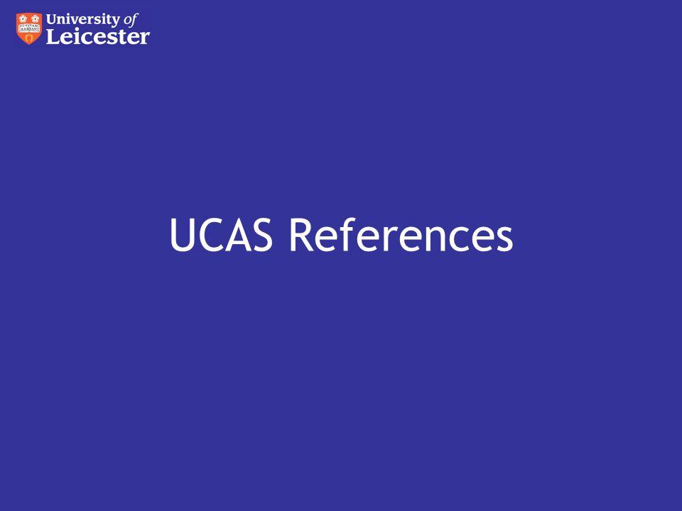 UCAS References
