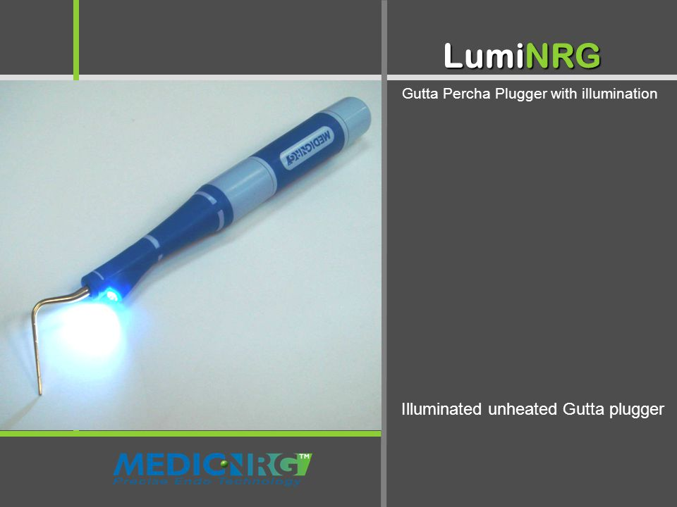 Illuminated Mirror - Two in One LumiNRG Gutta Percha Plugger with illumination Illuminated unheated Gutta plugger