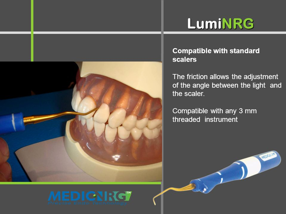 Illuminated Mirror - Two in One LumiNRG Compatible with standard scalers The friction allows the adjustment of the angle between the light and the scaler.