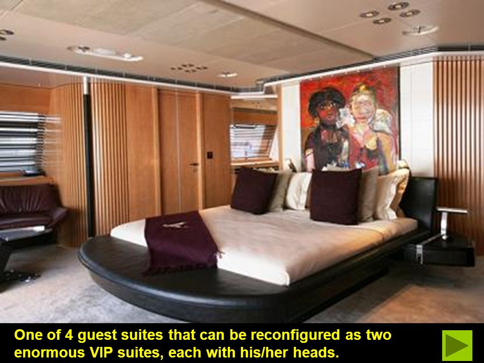Accommodations can be optionally 4 - 6 staterooms