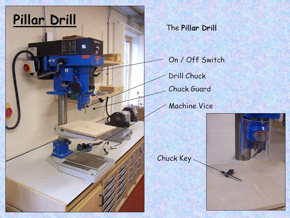 The Pillar Drill On / Off Switch Drill Chuck Chuck Guard Chuck Key Machine Vice Pillar Drill