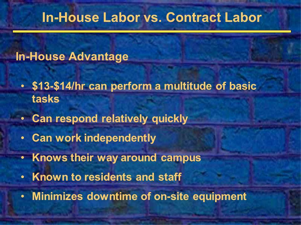In-House Labor vs.