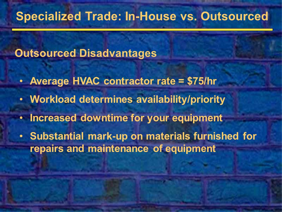 Specialized Trade: In-House vs.