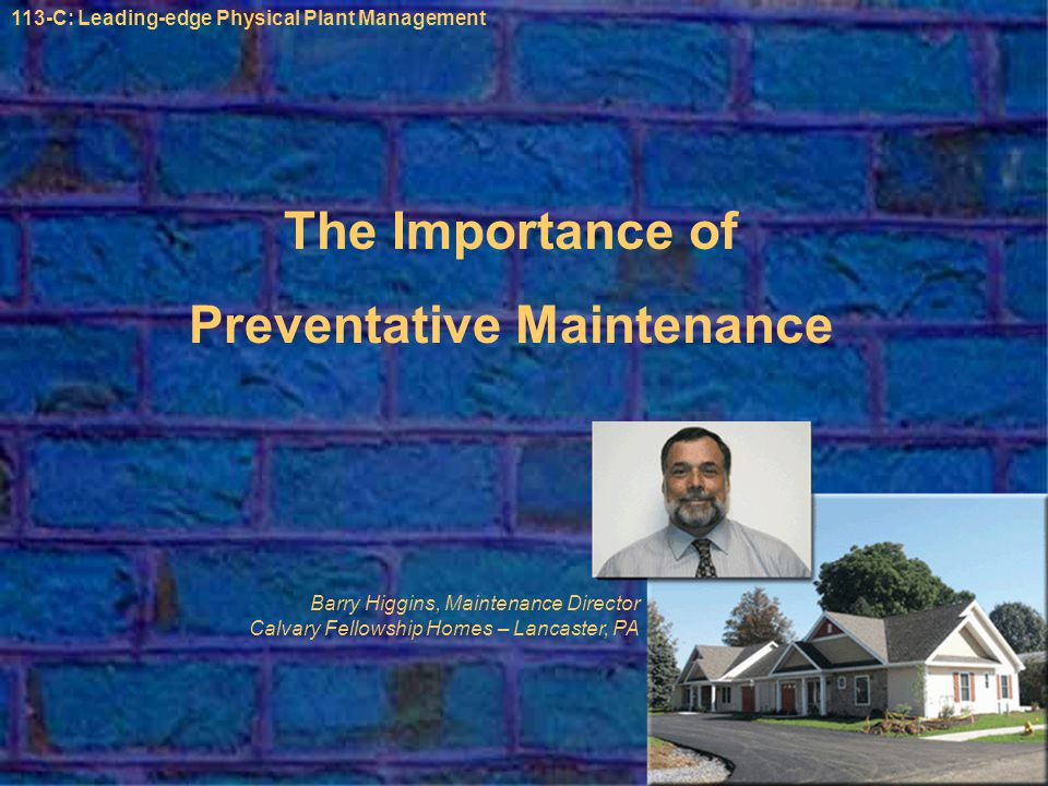 Is Preventative Maintenance Really that Important? ?