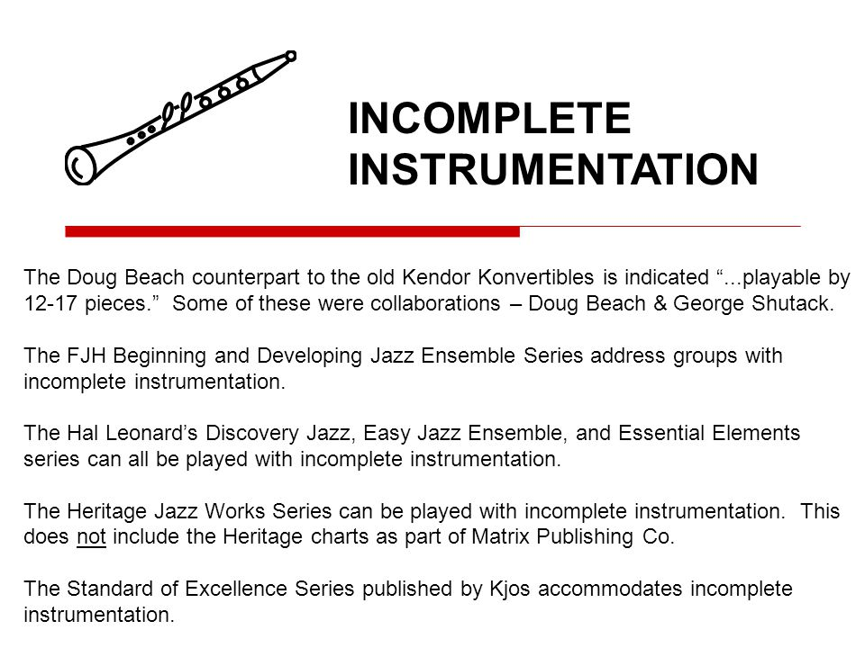 The Doug Beach counterpart to the old Kendor Konvertibles is indicated...playable by 12-17 pieces.