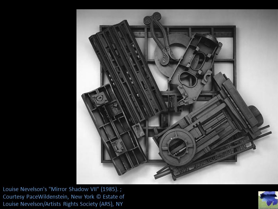 Louise Nevelson s Mirror Shadow VII (1985).
