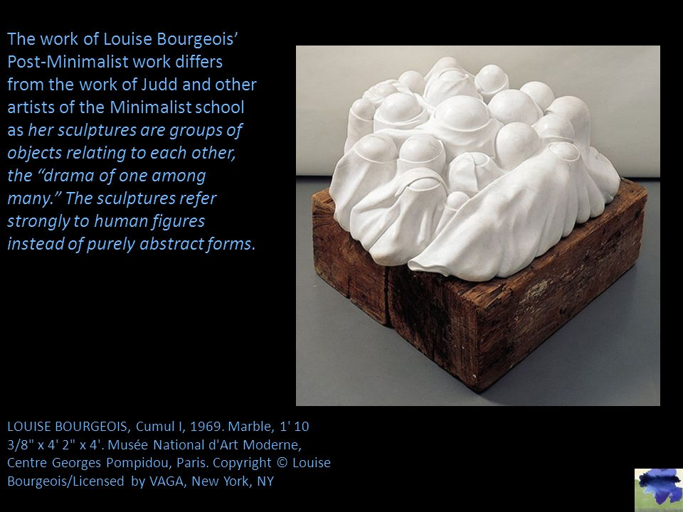 LOUISE BOURGEOIS, Cumul I, 1969.Marble, 1 10 3/8 x 4 2 x 4 .