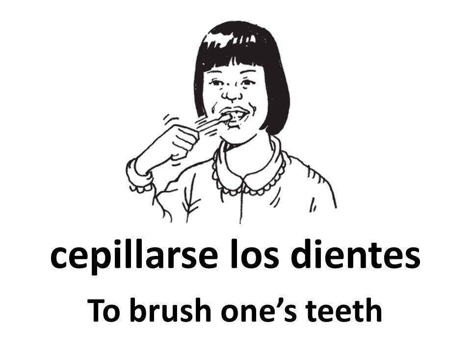 cepillarse los dientes To brush ones teeth
