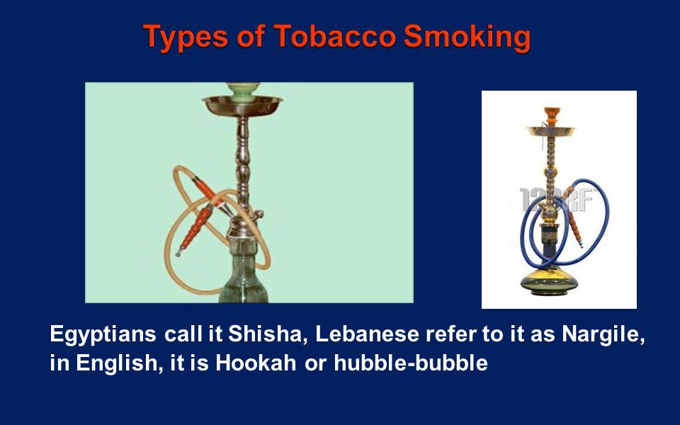 Egyptians call it Shisha, Lebanese refer to it as Nargile, in English, it is Hookah or hubble-bubble