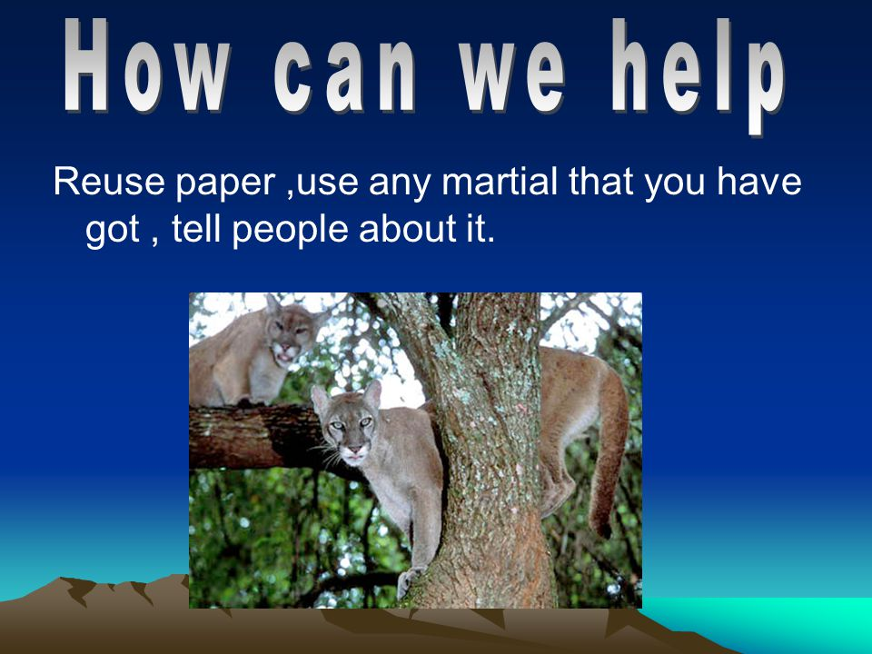 Reuse paper,use any martial that you have got, tell people about it.