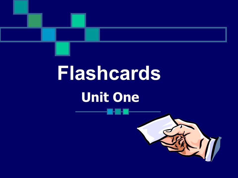Unit One Flashcards