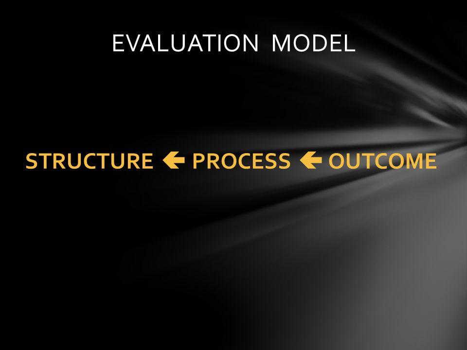 STRUCTURE PROCESS OUTCOME EVALUATION MODEL