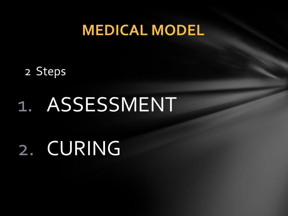 1.ASSESSMENT 2.CURING MEDICAL MODEL 2 Steps