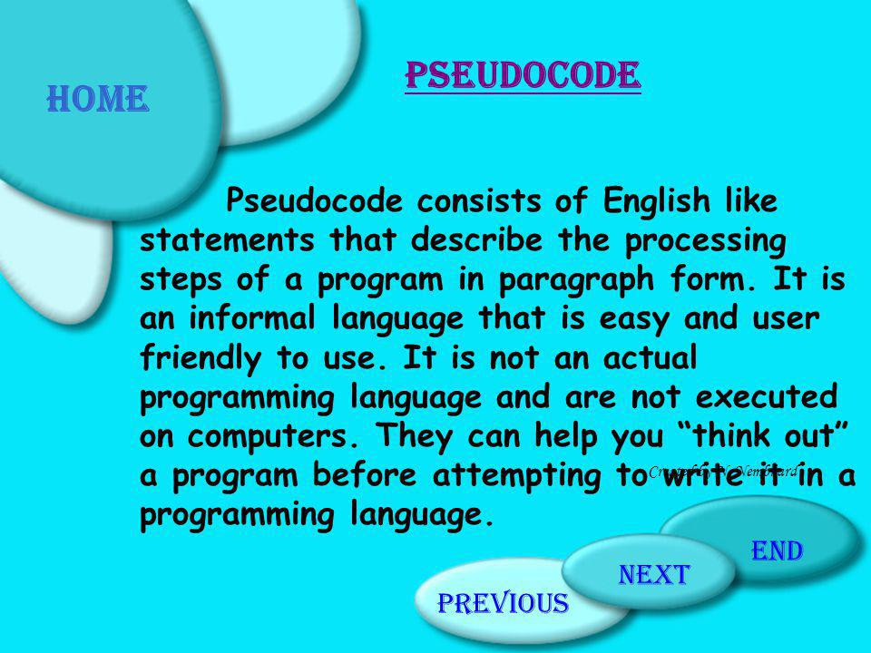 What Have You Learnt? Previous PageHome PageNext Page End Created by N. Nembhard