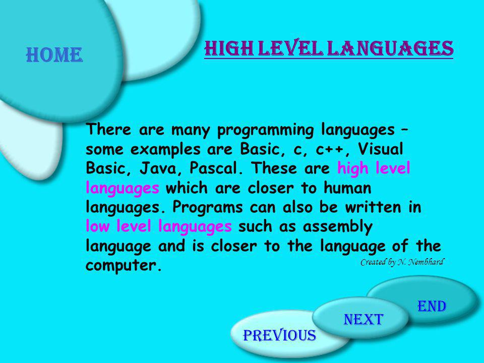 Quiz Click on the correct answer: The basic elements of any program are: Input, storing, processing Input, storing,output Input, processing, output A C B Previous PageHome PageNext Page end Created by N.