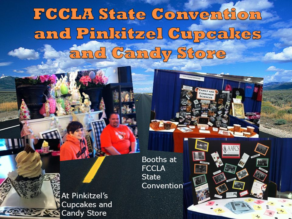 At Pinkitzels Cupcakes and Candy Store Booths at FCCLA State Convention