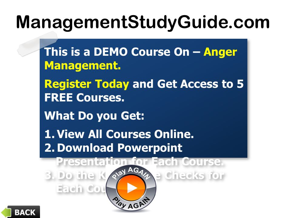 This is a DEMO Course On – Anger Management. Register Today and Get Access to 5 FREE Courses.