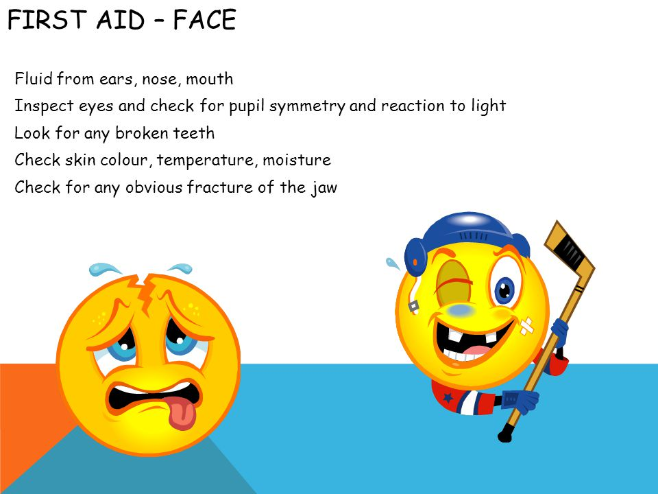 FIRST AID – NECK Gently inspect and palpate for tenderness, deformities and rigidity