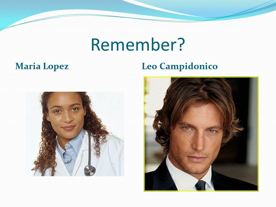 Remember? Maria Lopez Leo Campidonico