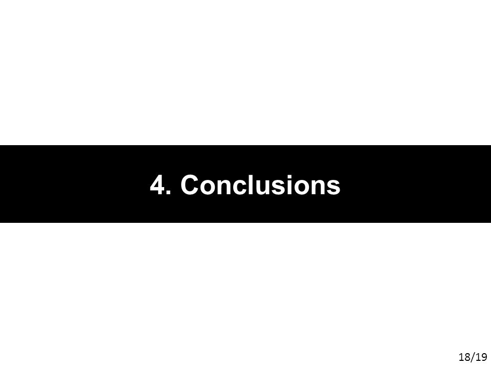 4. Conclusions 18/19