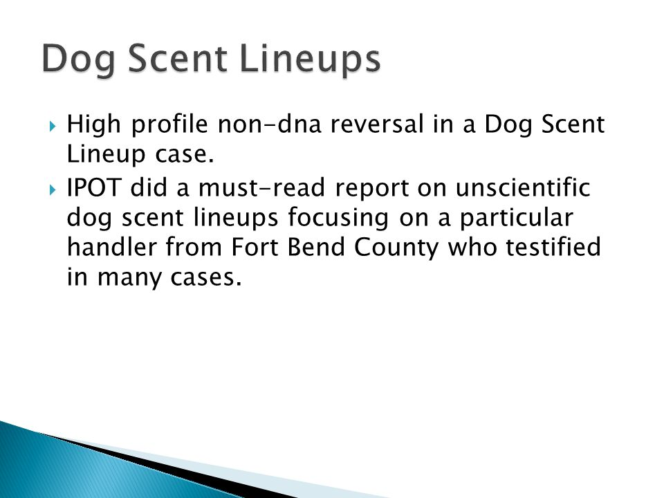 High profile non-dna reversal in a Dog Scent Lineup case.