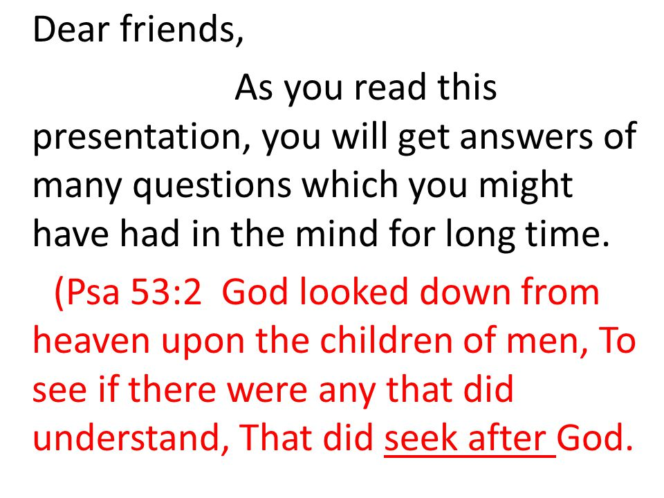 Kindly read what a man of God is thinking like all others.