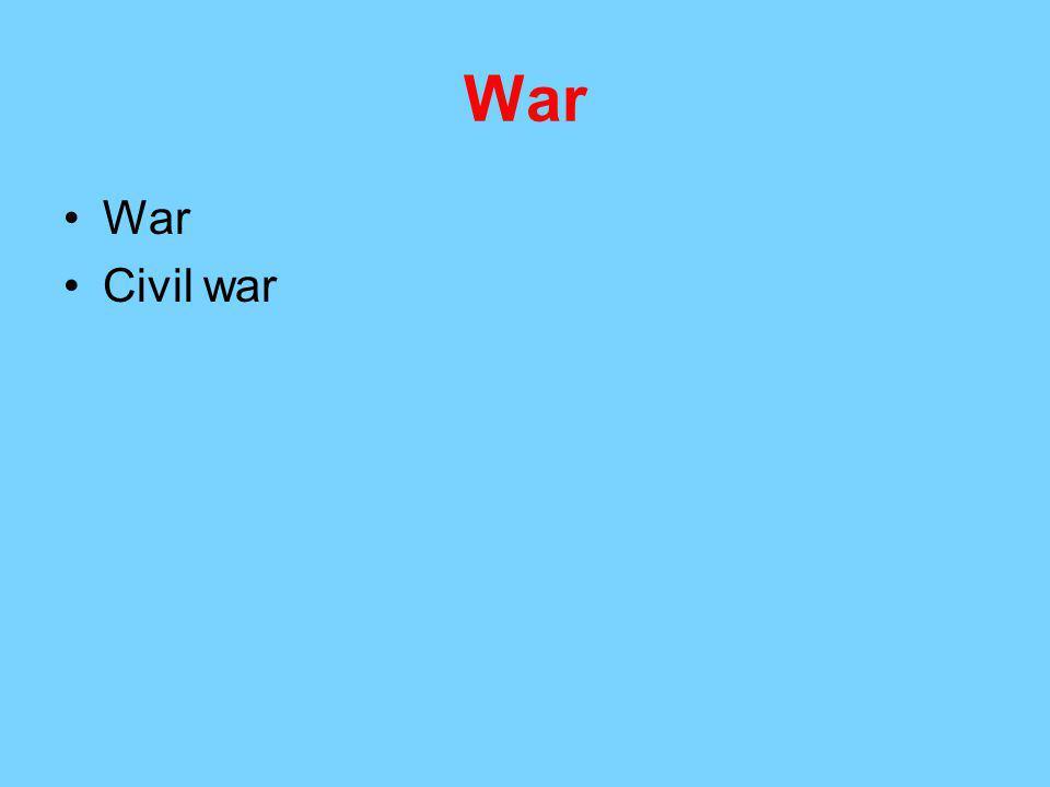 War Civil war