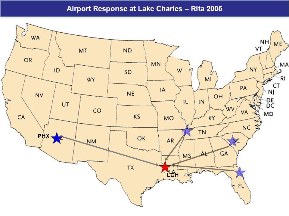 LCH PHX Airport Response at Lake Charles – Rita 2005