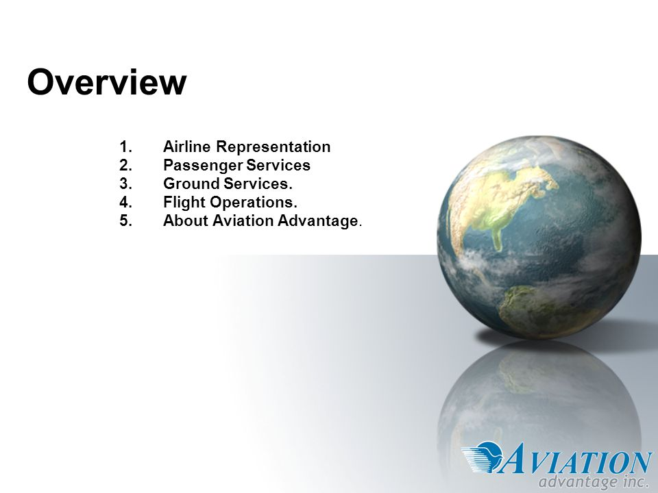 1.Airline Representation Contract negotiation and administration.