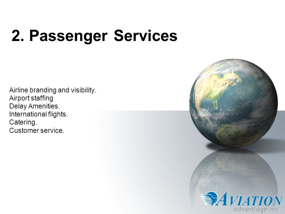 Passenger Services: Airline Branding & Visibility Airport signage.