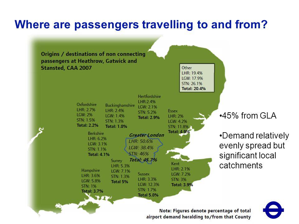 16 October 20067 London airports passenger market (2009 CAA passenger data) Area of pie denotes demand