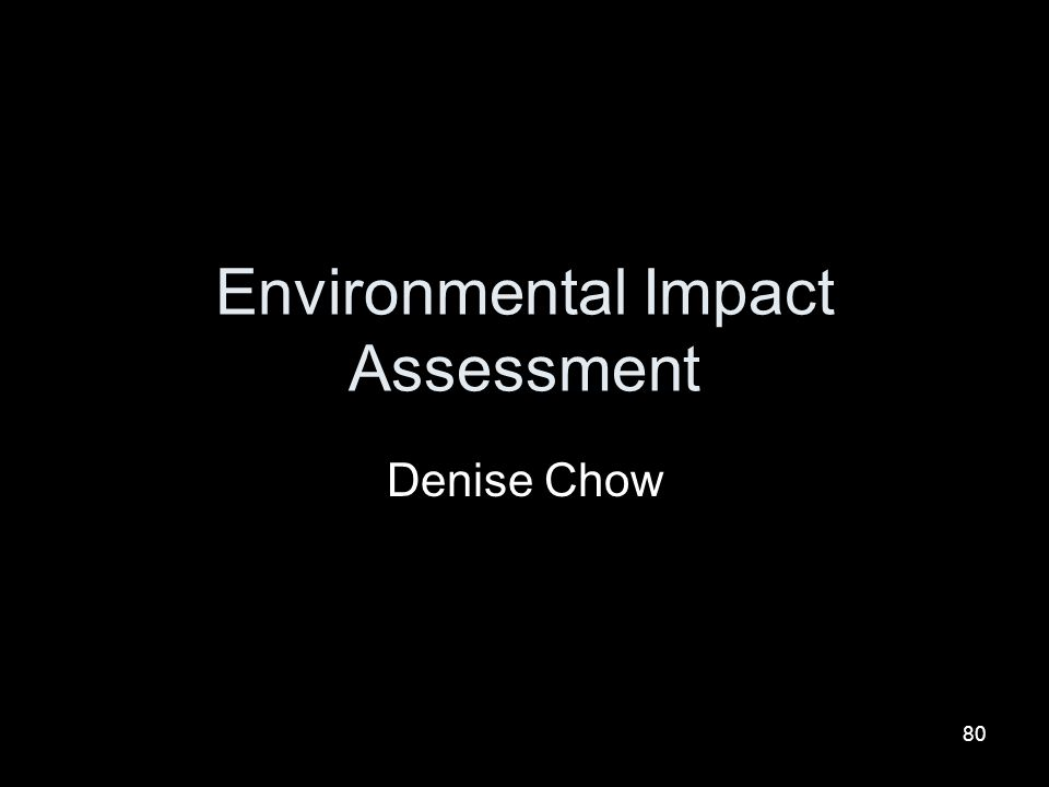 80 Environmental Impact Assessment Denise Chow