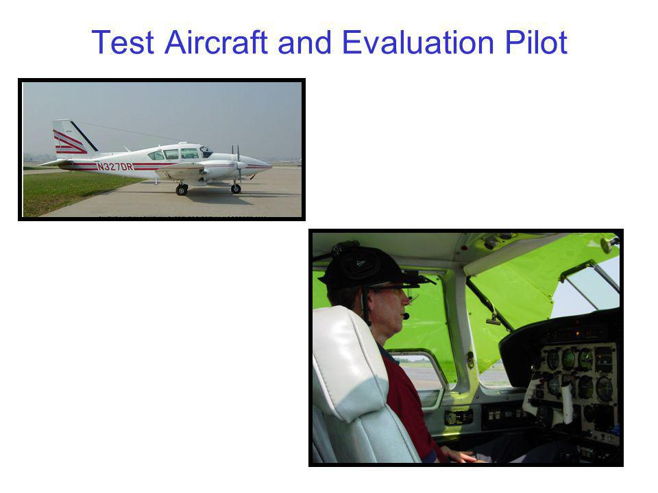 8 Test Aircraft and Evaluation Pilot