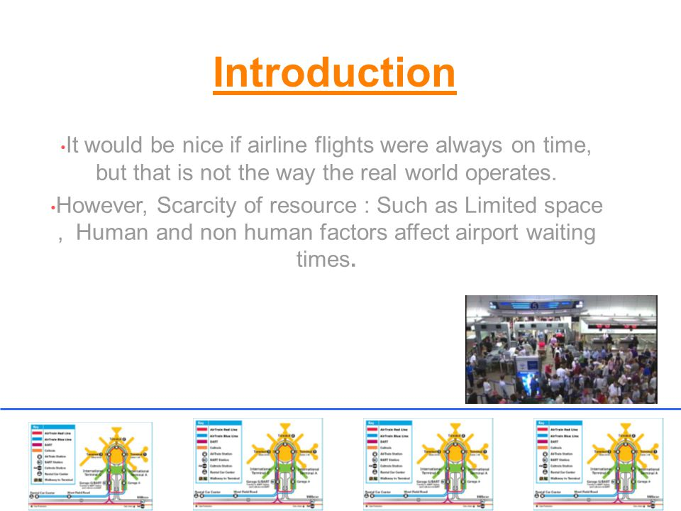 Introduction It would be nice if airline flights were always on time, but that is not the way the real world operates.