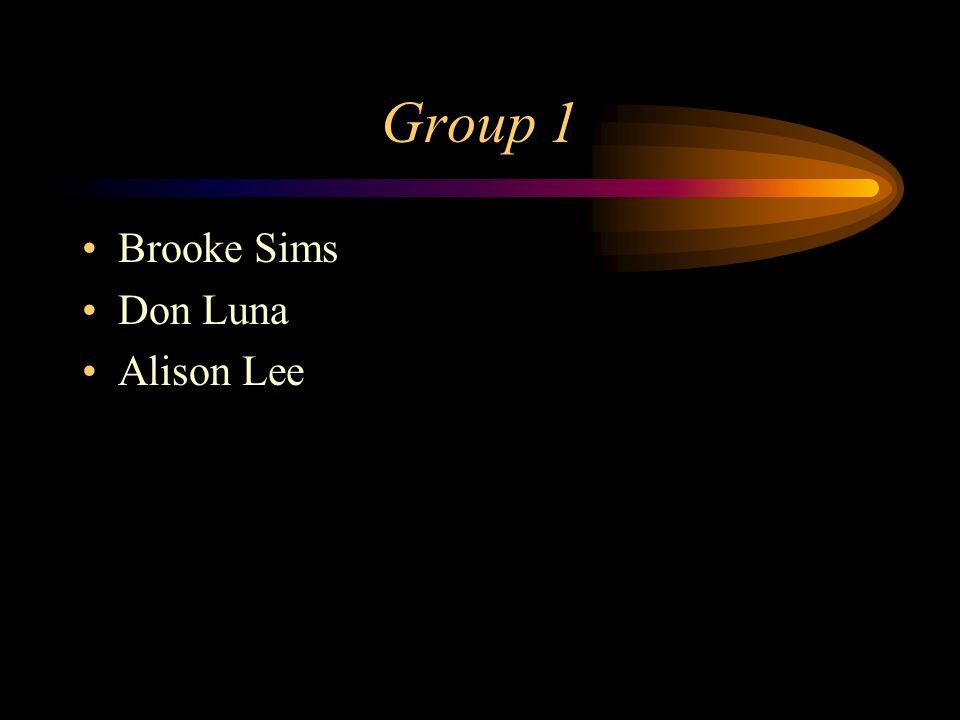 Group 1 Brooke Sims Don Luna Alison Lee