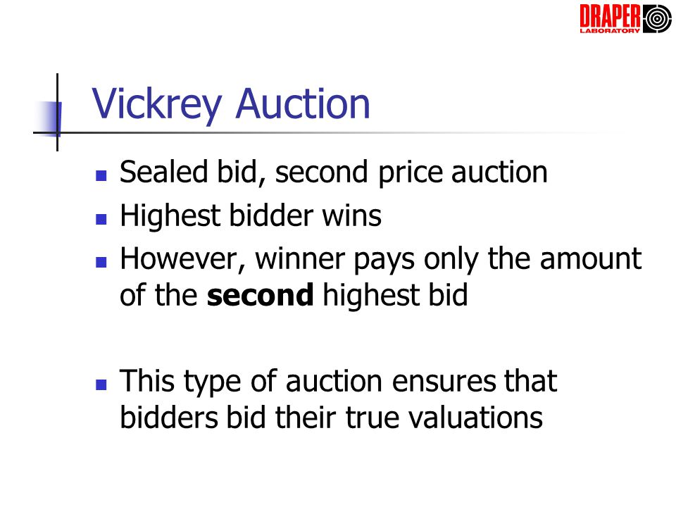Previously Suggested Auctions for Arrival Slot Allocation Combinatorial Auction (Rassenti) – Airlines can bid on packages of slots Multi-Object Auction (Milner) – Airlines report value of each possible flight/slot combination, then FAA solves large assignment problem Groves Mechanism (Hall) – Impose a fee on an airline, equal to the lost value caused to the other airlines