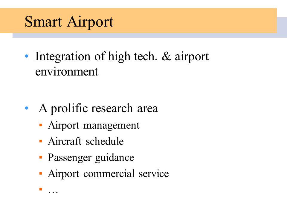 Smart Airport Integration of high tech.